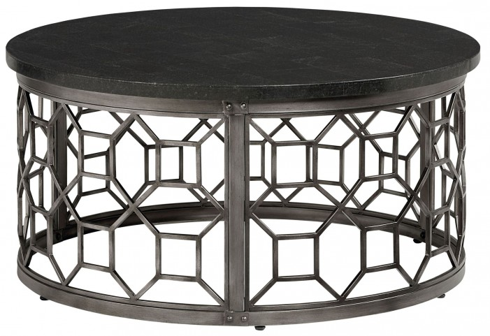 Equinox Round Stone Top Cocktail Table