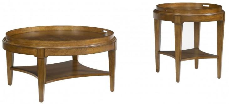 Trea-Kincaid Treasures Round Occasional Table Set