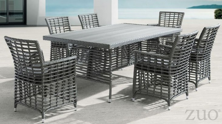 Sandbanks Gray Rectangular Dining Room Set