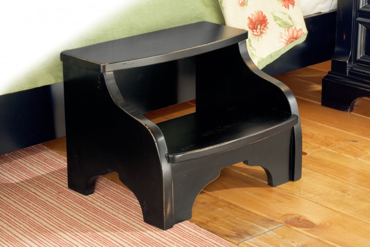 Heirloom Black Foot Stool