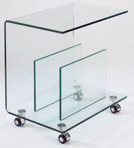 Dopio Glass End Table