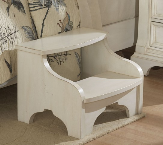 Heirloom White Foot Stool