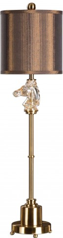 Cavalier Brushed Brass Buffet Lamp