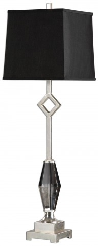 Cervasca Smoked Crystal Buffet Lamp