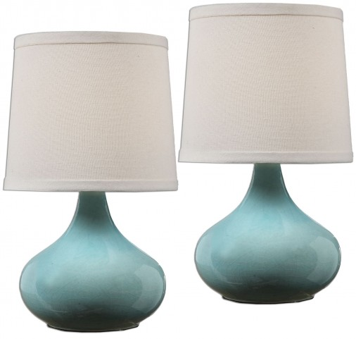 Gabbiano Pale Blue Lamps Set of 2