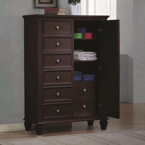 Sandy Beach Cappuccino Door Chest