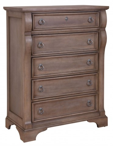 Heirloom Pewter Five Drawer Chest