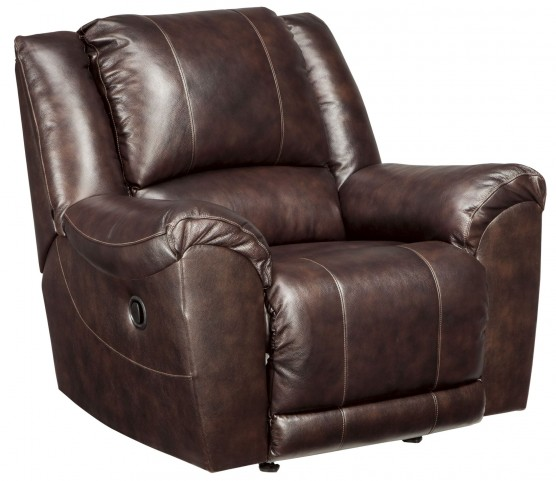Yancy Walnut Rocker Recliner