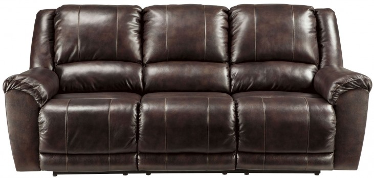 Yancy Walnut Reclining Sofa