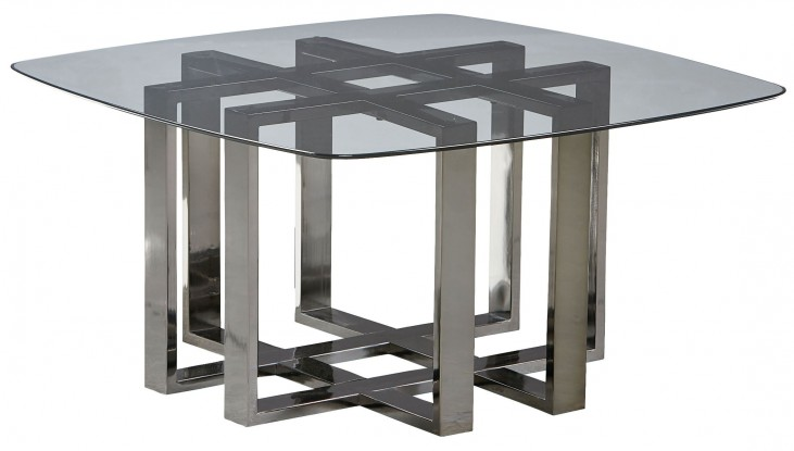 Hashtag Black Chrome Metal Cocktail Table