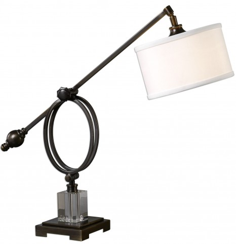 Levisa Dark Bronze Desk Lamp