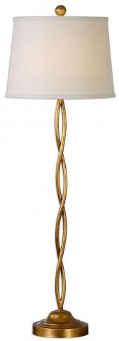 Elica Gold Twist Buffet Lamp