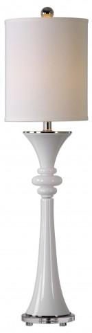 Gwyn Gloss White Buffet Lamp