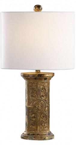 Latina Antiqued Gold Lamp