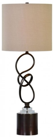 Aprilia Twisted Dark Bronze Lamp