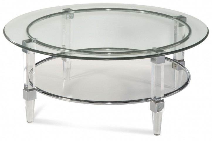 Cristal Acrylic and Chrome Cocktail Table
