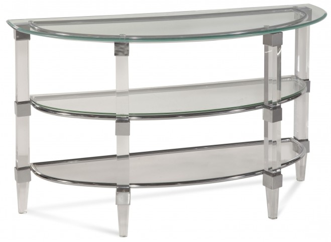 Cristal Acrylic and Chrome Console Table