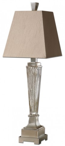 Canino Mercury Glass Pillar Table Lamp
