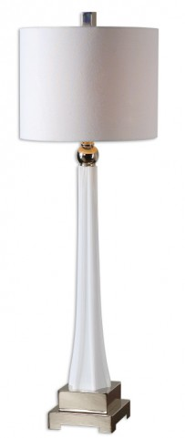 Boretto White Glass Lamp
