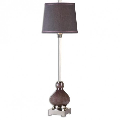 Charoite Deep Purple Buffet Lamp