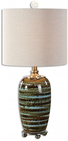 Laurendine Bronze Stripes Table Lamp