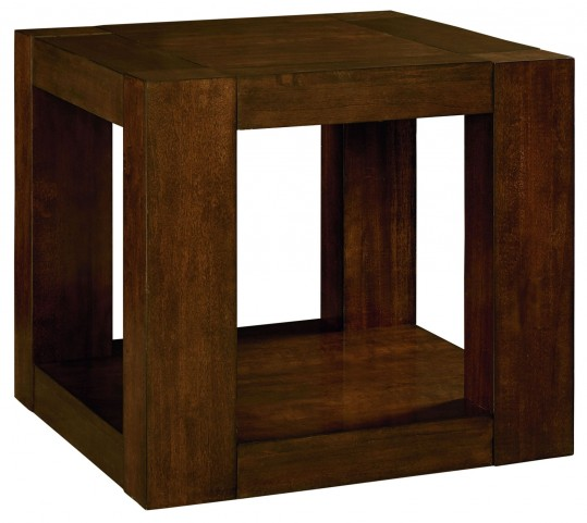 Franklin Burnished Brown Cherry End Table