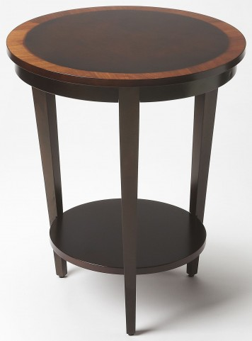 Serenade Cherry Nouveau Round Accent Table