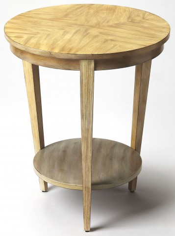 Serenade Driftwood Round Accent Table
