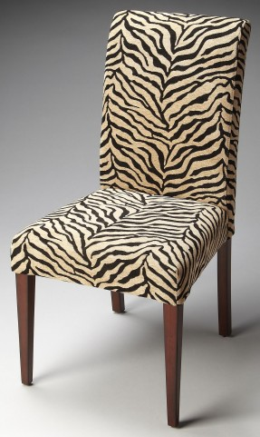 Loft Zebra Print Fabric Parsons Chair