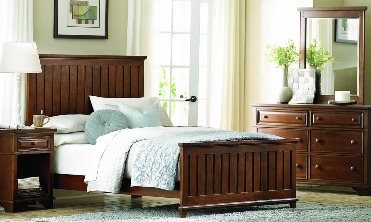 Dawson's Ridge Heirloom Cherry Panel Bedroom Set