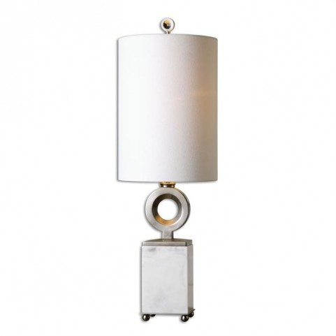 Palos White Alabaster Buffet Lamp