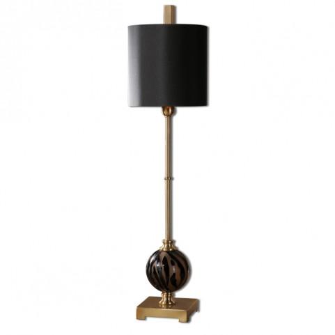 Amur Smoke Glass Buffet Lamp