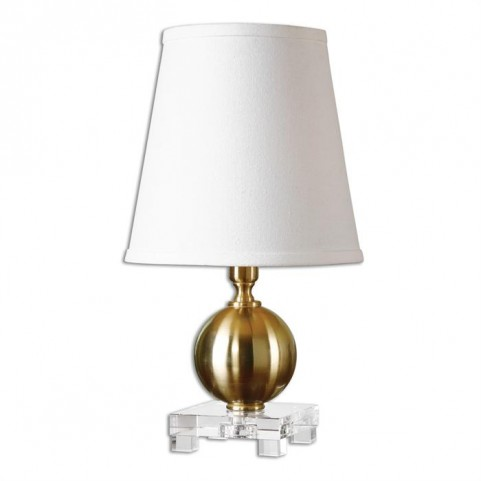 Laton Mini Brushed Brass Table Lamp