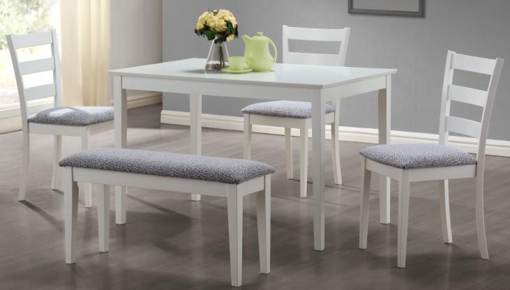 1210 White 5Pcs Dining Set
