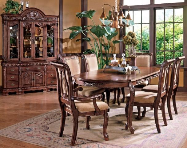 Harmony Medium Cherry Extendable Rectangular Dining Room Set
