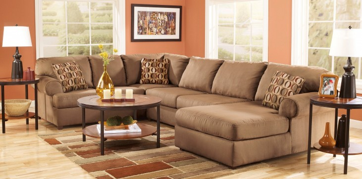 Cowan Mocha Right Arm Facing Sectional