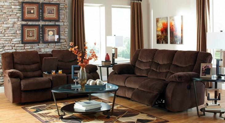 Garek Cocoa Reclining Living Room Set