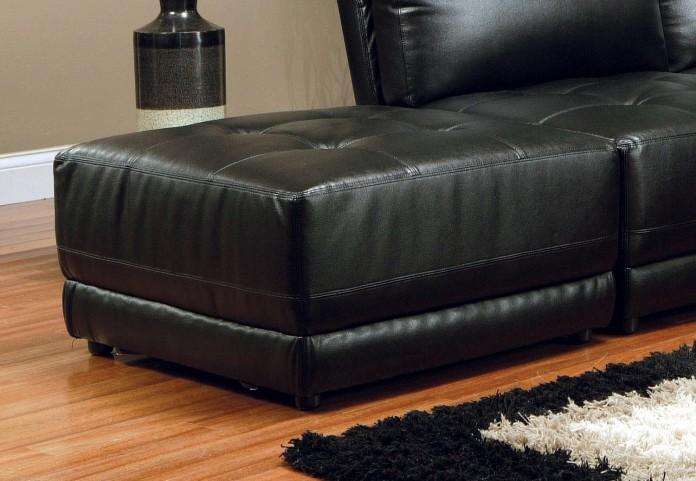 Black Modular Ottoman - 500893