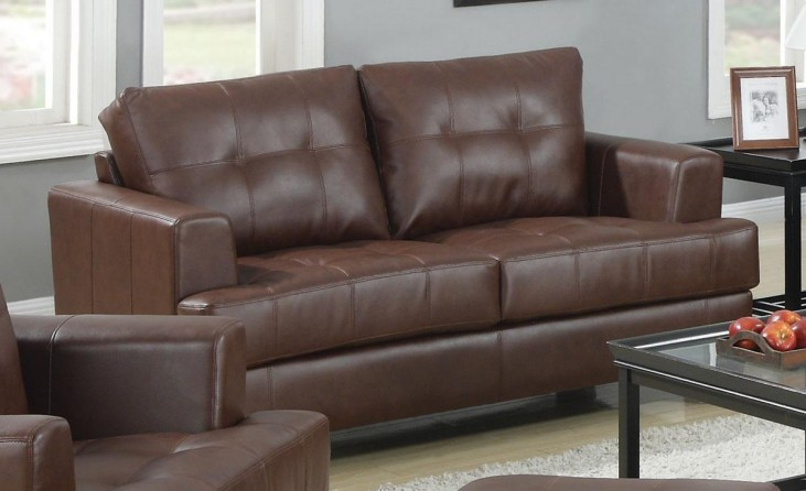 Samuel Dark Brown Loveseat