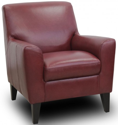 Analee Cherry Leather Chair