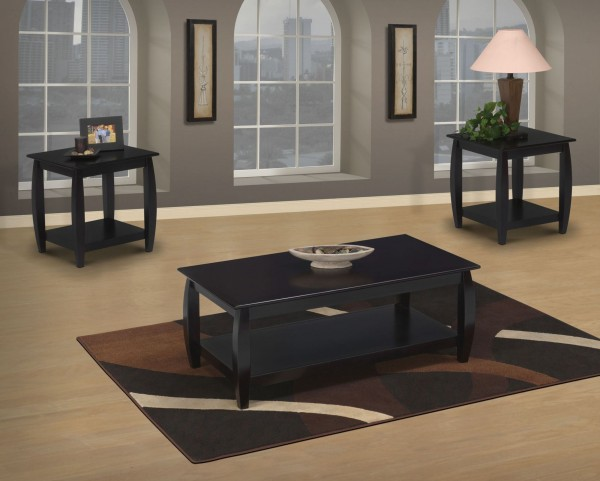 Harrison Light Espresso 3 Piece Occasional Table Set