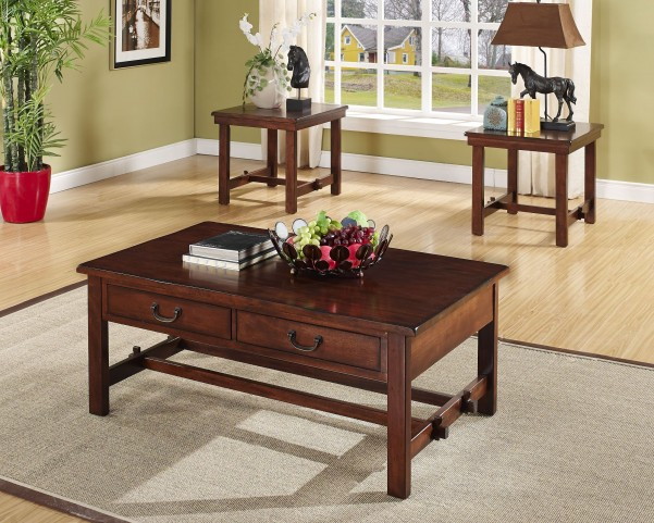 Madera African Chestnut Occasional Table Set