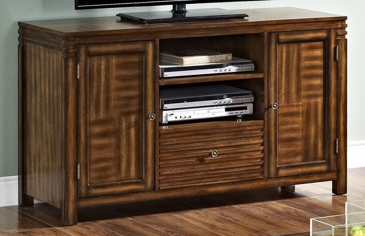 Parquet Burnished Walnut Entertainment Console