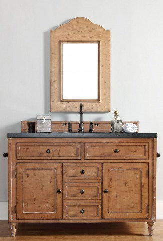 "Copper Cove 48"" Driftwood Patina Single 4CM Top Vanity Set"