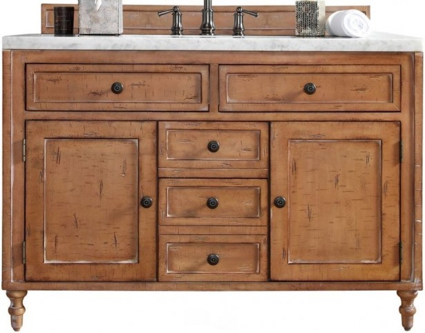 "Copper Cove 48"" Driftwood Patina Single 4Cm Top Vanity"
