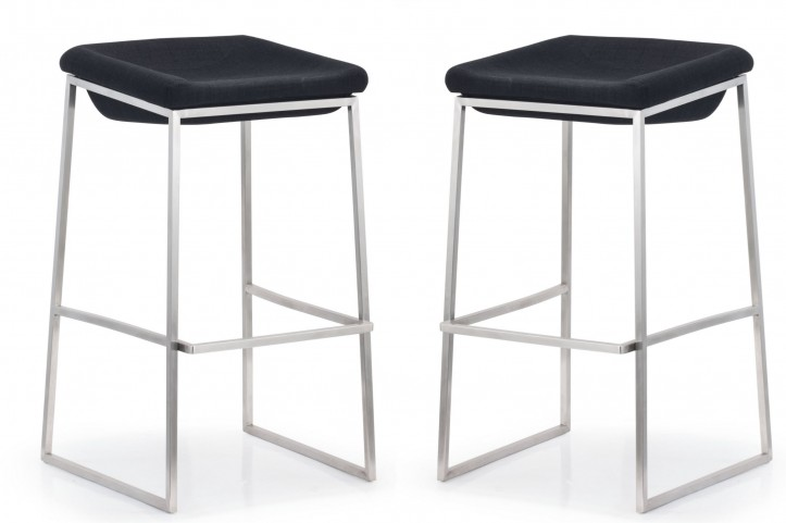 Lids Dark Gray Bar Chair Set of 2