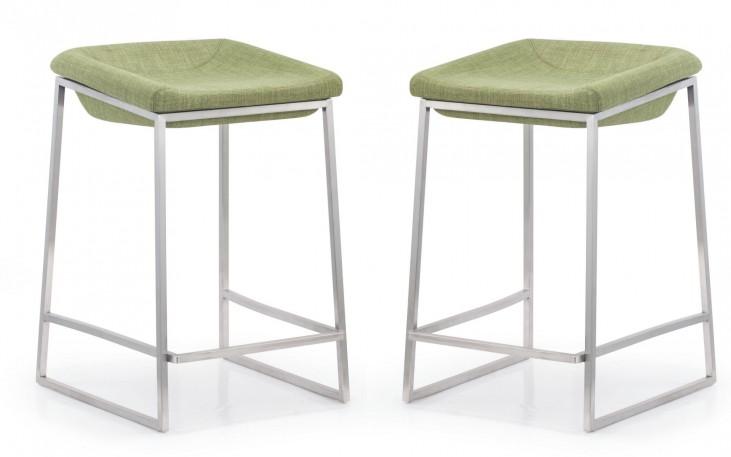 Lids Green Counter Chair Set of 2