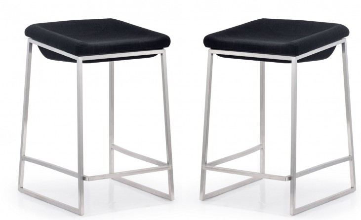 Lids Gray Counter Chair Set of 2