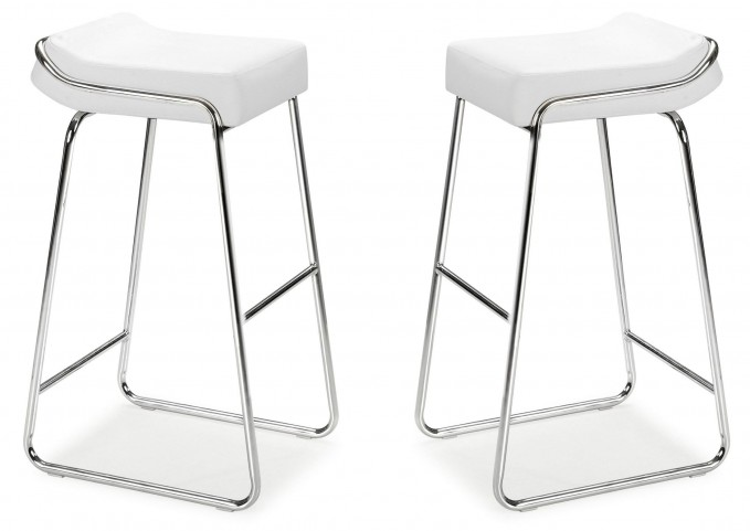 Wedge Bar Chair White Set of 2