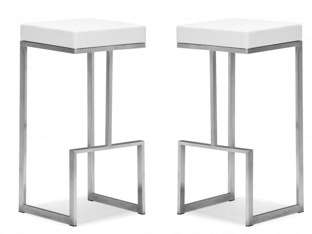 Darwen Bar Chair White Set of 2